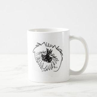 A happy keeshond mug