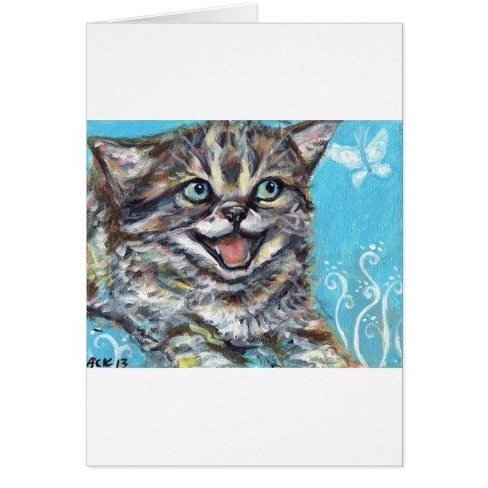 A happy kitten card