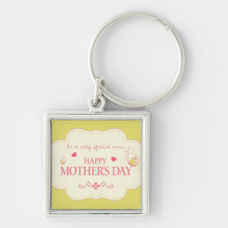 A Happy Mother's Day Greeting Card Keychain