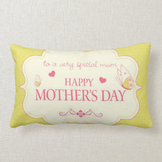 A Happy Mother's Day Greeting Card Lumbar Pillow