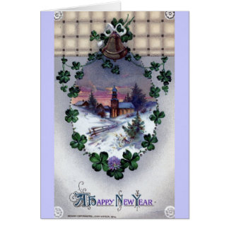 A Happy New Year 1914 Vintage Card