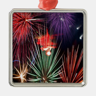 A Happy new Year For all People Square Metal Christmas Ornament
