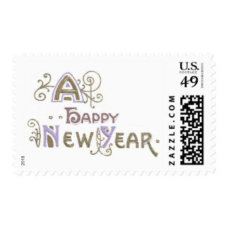 A Happy New Year Postage Stamps