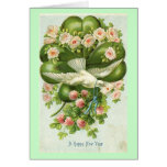 A Happy New Year White Dove 1908 Vintage Card