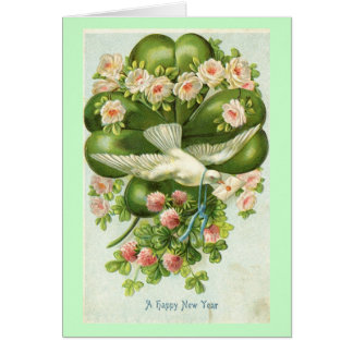 A Happy New Year White Dove 1908 Vintage Greeting Card