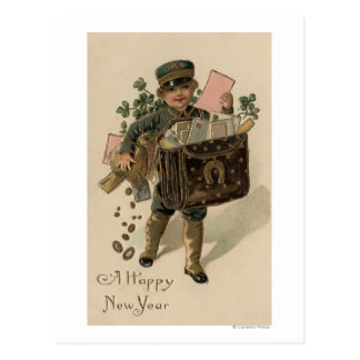 A Happy New YearIrish Mail Boy Post Cards