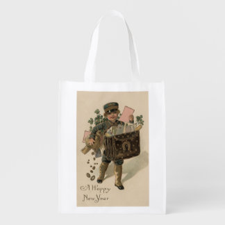 A Happy New YearIrish Mail Boy Reusable Grocery Bag