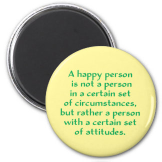 A happy person is not a person in a certain set of magnet