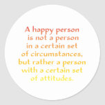 A happy person is not a person in a certain set of sticker