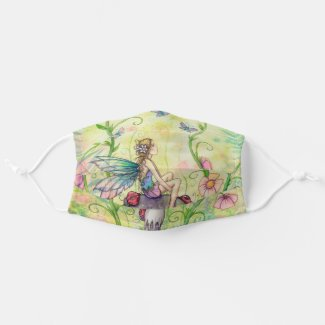 A Happy Place Fairy and Ladybug Art Cloth Face Mask