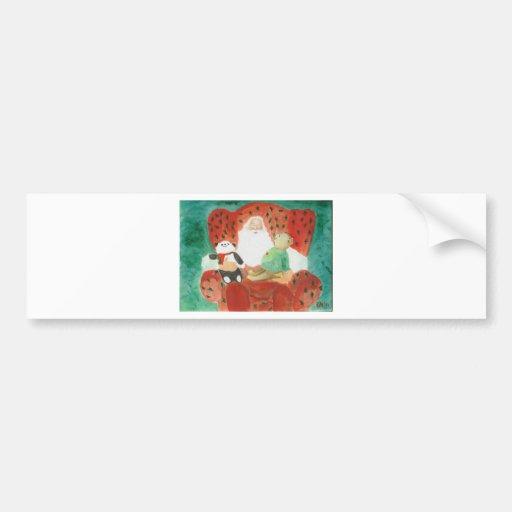 a happy santa bumper sticker