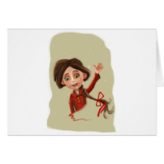 A happy smile Greeting Card