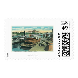 A Harbor Shipping Scene on Sacramento River Stamps