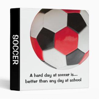 A hard day at soccer 3 ring binder