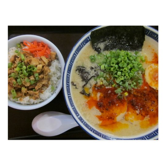 A hardy lunch in Japan Postcard