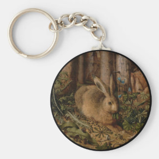 A Hare in the Forest Key Chain