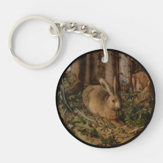 A Hare in the Forest Keychain