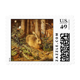 A HARE IN THE FOREST POSTAGE STAMP