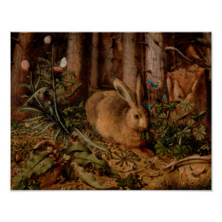 A Hare in the Forest Poster