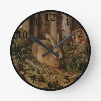 A Hare in the Forest Round Clocks