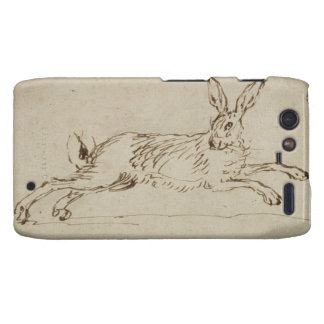 A Hare Running, With Ears Pricked (pen & ink on pa Motorola Droid RAZR Case