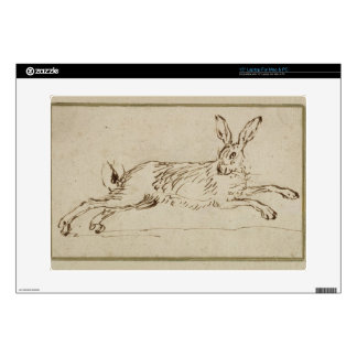A Hare Running, With Ears Pricked (pen & ink on pa Decals For Laptops