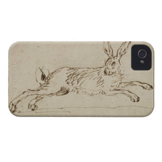 A Hare Running, With Ears Pricked (pen & ink on pa iPhone 4 Cover