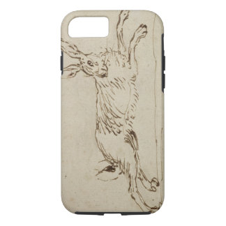 A Hare Running, With Ears Pricked (pen & ink on pa iPhone 8/7 Case