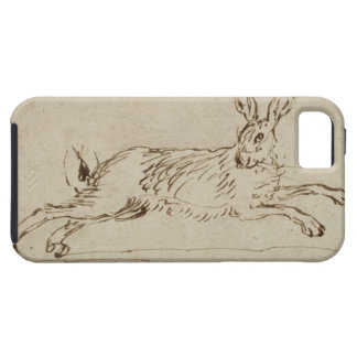 A Hare Running, With Ears Pricked (pen & ink on pa iPhone SE/5/5s Case