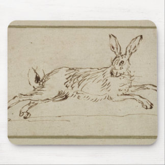 A Hare Running, With Ears Pricked (pen & ink on pa Mouse Pad