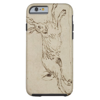 A Hare Running, With Ears Pricked (pen & ink on pa Tough iPhone 6 Case