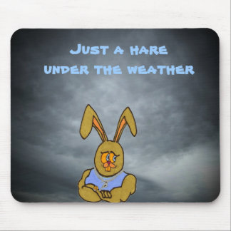 A hare under the weather mouse pad