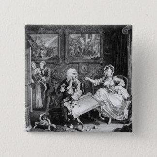A Harlot's Progress, plate II, Quarrels Button