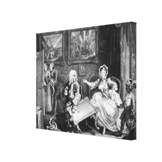 A Harlot's Progress, plate II, Quarrels Canvas Print