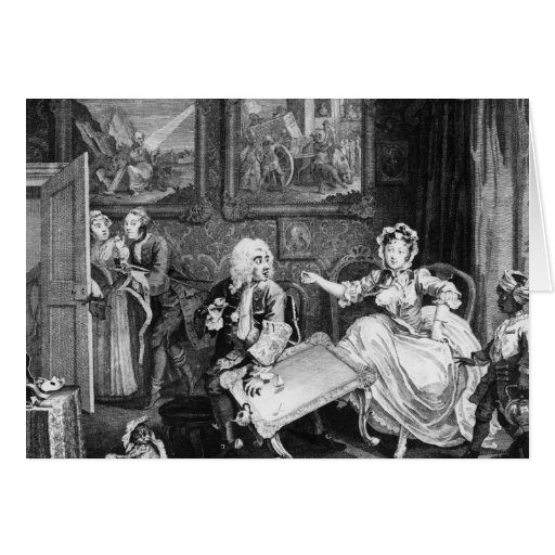 A Harlot's Progress, plate II, Quarrels Greeting Cards