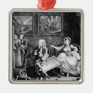A Harlot's Progress, plate II, Quarrels Christmas Tree Ornaments