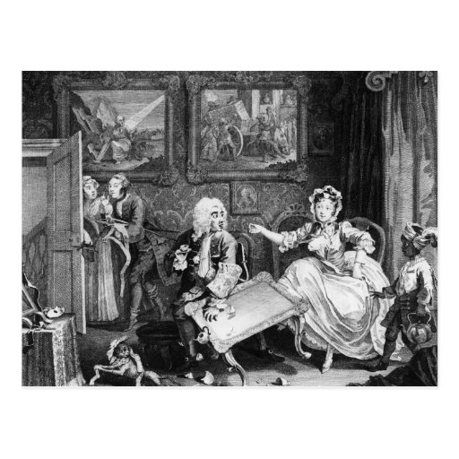 A Harlot's Progress, plate II, Quarrels Post Cards
