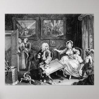 A Harlot's Progress, plate II, Quarrels Poster