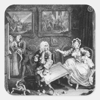 A Harlot's Progress, plate II, Quarrels Square Sticker