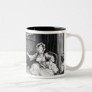 A Harlot's Progress, plate II, Quarrels Two-Tone Coffee Mug