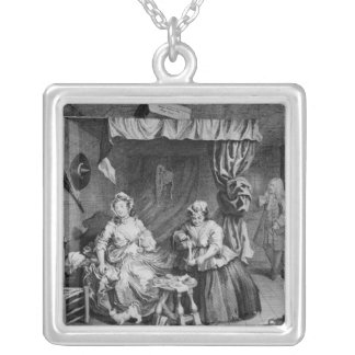 A Harlot's Progress Square Pendant Necklace