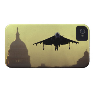 A Harrier jet landing on the Mall at dawn with iPhone 4 Cover