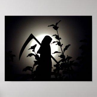 A Harvest Full Moon The Reaper's Delight Poster