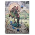 A Harvest Moon Fairy Gothic Fantasy Art Spiral Notebooks