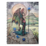A Harvest Moon Fairy Gothic Fantasy Art Spiral Notebook