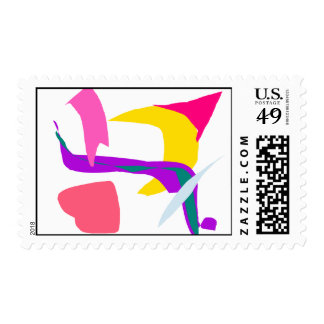 A Hat Blown Away by the Wind Postage Stamp