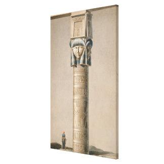 A Hathor headed pillar at Dendarah, illustration ' Gallery Wrap Canvas