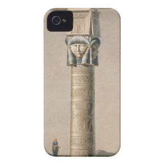 A Hathor headed pillar at Dendarah, illustration ' iPhone 4 Case-Mate Cases