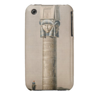 A Hathor headed pillar at Dendarah, illustration ' iPhone 3 Case-Mate Cases