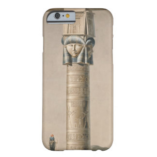 A Hathor headed pillar at Dendarah, illustration ' Barely There iPhone 6 Case